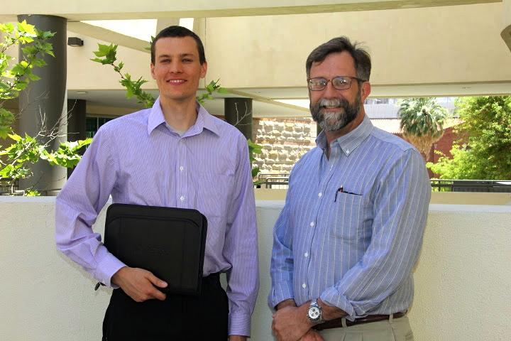 Ph.D. candidate Russell Beal & Prof. B.G. Potter