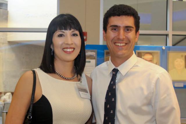 Erica Corral, left, and Armin Sorooshian